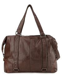 Distressed Leather Holdall Duffel Bag - Dark Brown Duffel Bags - Urban State Indonesia