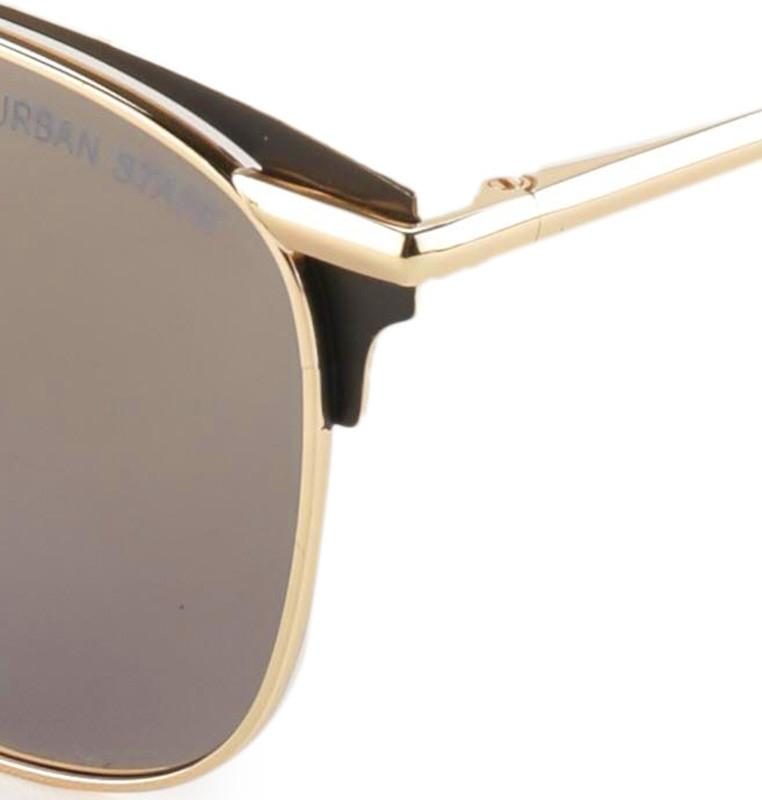 Polarized Crossbar Aviator Sunglasses - Brown Gold Sunglasses - Urban State Indonesia