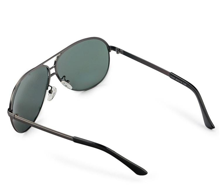 Polarized Large Lead Aviator Sunnies - Green Silver Sunglasses - Urban State Indonesia