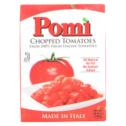 Pomi Tomatoes Chopped Tomatoes - Case Of 12 - 26.46 Oz.