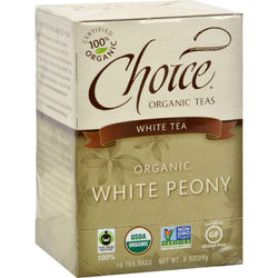 Choice Organic Teas White Tea - 16 Tea Bags - Case Of 6