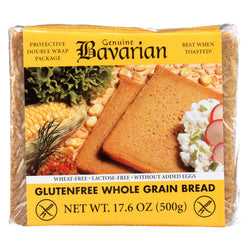 Genuine Bavarian Organic Bread - Whole Grain - Case Of 6 - 17.6 Oz.