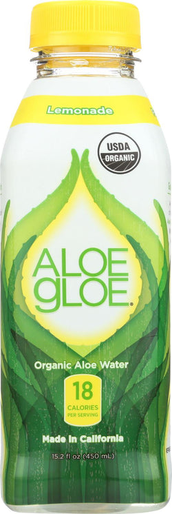Aloe Gloe Lemonade Organic Aloe Water - Case Of 12 - 15.2 Fl Oz.
