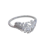 STERLING SILVER SETTLED FEATHER RING - MODAMEDINA