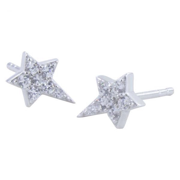 Earrings CZ Star studs - MODAMEDINA