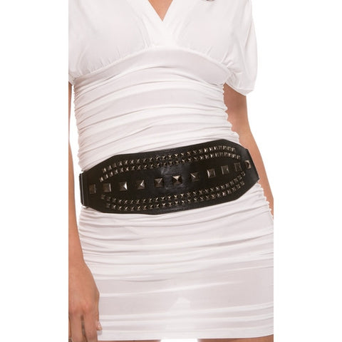 Gunmetal Studded Clubwear Belt