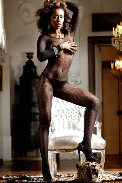 Long Sleeve Fishnet Bodystocking