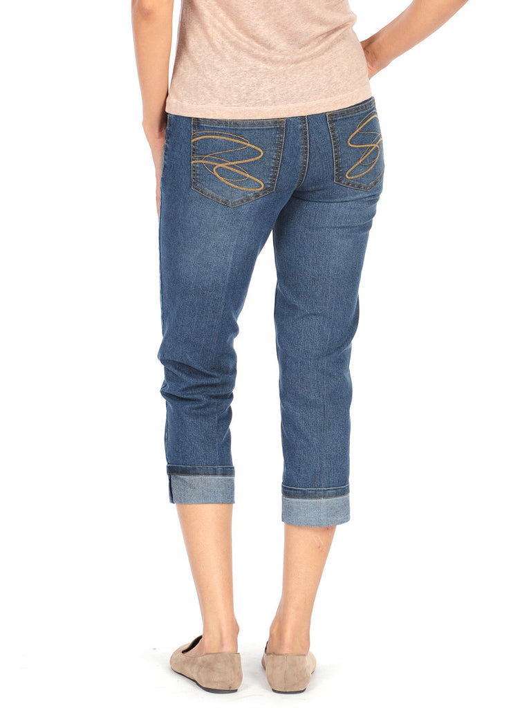 BOYFRIEND CROP JEANS - LIGHT INDIGO