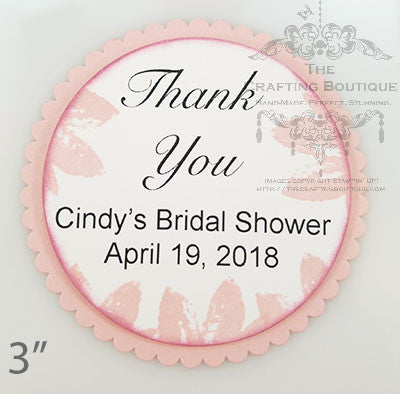 Bridal Shower Thank You Gift Tags