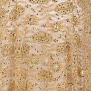 Hand Embroidered Fabric Design # 4150 - Champagne Gold - Per Yard