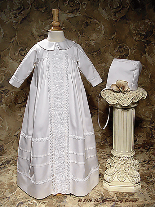 Cotton Sateen Bishops Christening Gown