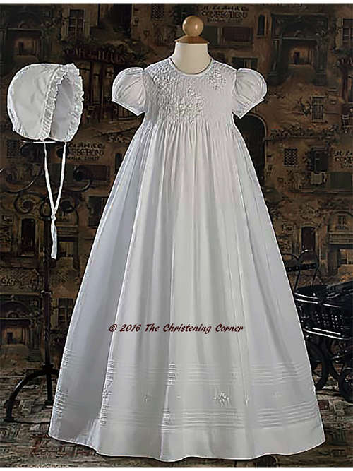 Hand Smocked Girls Family Christening Gown