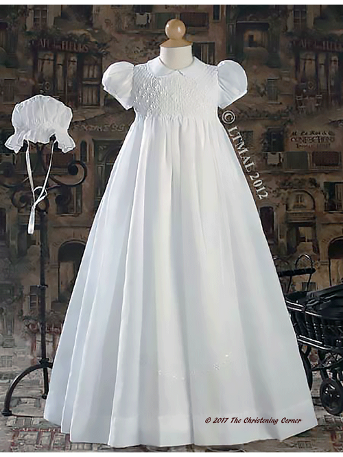 Hand Smocked Family Christening Gown for Girls