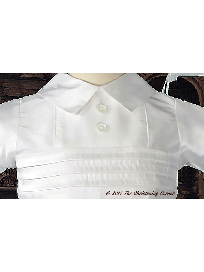 Boys Silk Christening Outfit - bodice