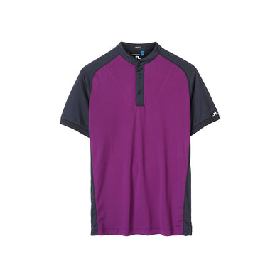 GreenRabbit Golf, J. Lindeberg, Edward Slim TX Jersey Deep Purple, T-Shirt - GreenRabbit Golf GOLFFASHION & LIFESTYLE
