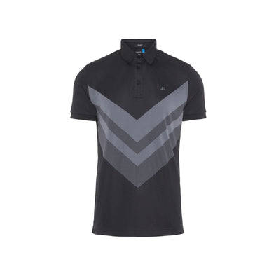 GreenRabbit Golf, J. Lindeberg, M Ace Reg Fit TX Jaquard Black, T-Shirt - GreenRabbit Golf GOLFFASHION & LIFESTYLE