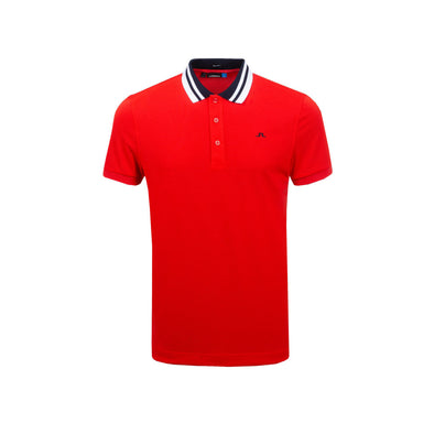 GreenRabbit Golf, J. Lindeberg, M Patrick Reg Cool Pique Racing Red, T-Shirt - GreenRabbit Golf GOLFFASHION & LIFESTYLE
