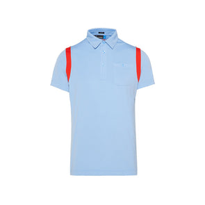 GreenRabbit Golf, J. Lindeberg, Dolph Slim TX Jersey JL Gentle Blue, T-Shirt - GreenRabbit Golf GOLFFASHION & LIFESTYLE