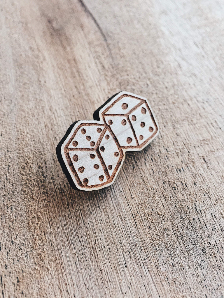 Jake Mize Dice Wooden Pin