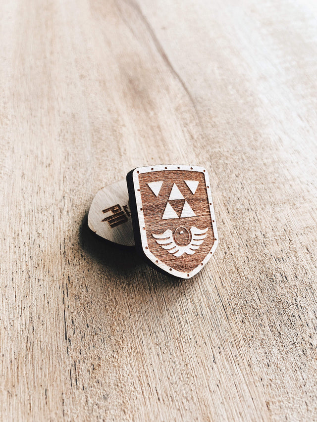 Jake Mize Link's Awakening Shield Wooden Pin