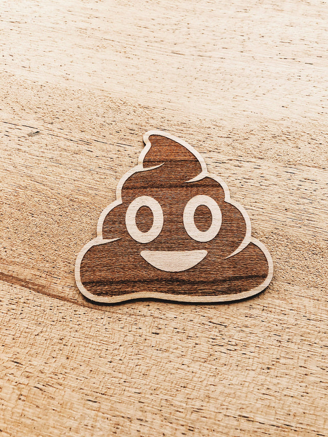 Jake Mize Poop Emoji Wooden Sticker Pack