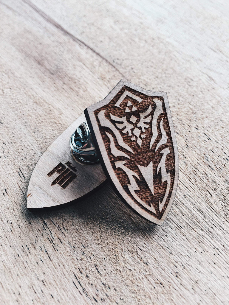 Jake Mize Royal Guard's Shield Wooden Pin