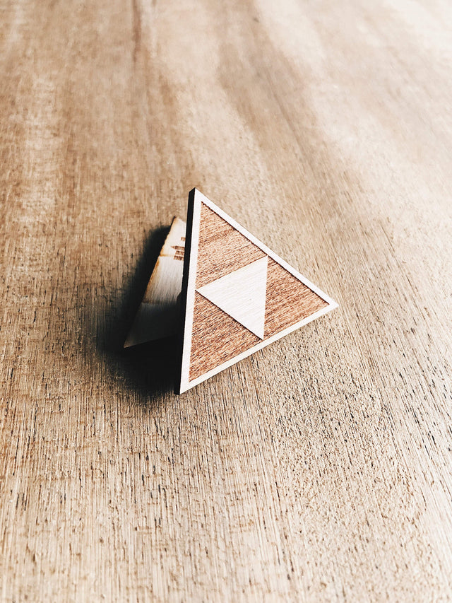 Jake Mize TriForce Wooden Pin