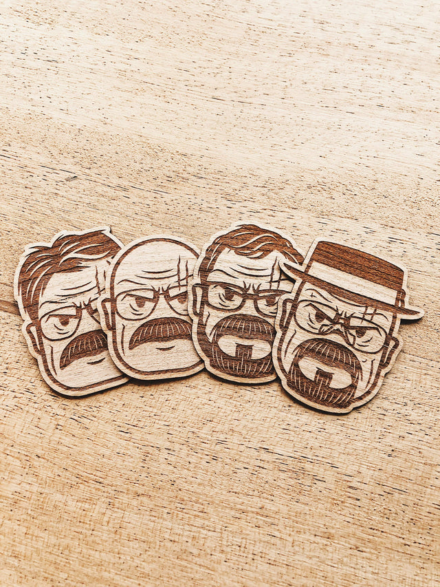 Lain Lee Walter White Wooden Sticker Pack