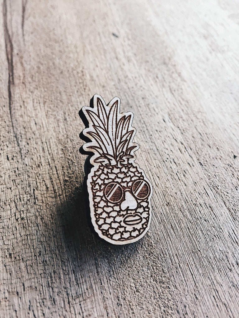 Rob Heath Pineapple Jake Wooden Pin