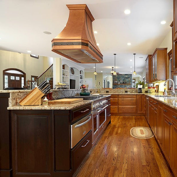 Made-to-Order Copper Kitchen Hood Extractors