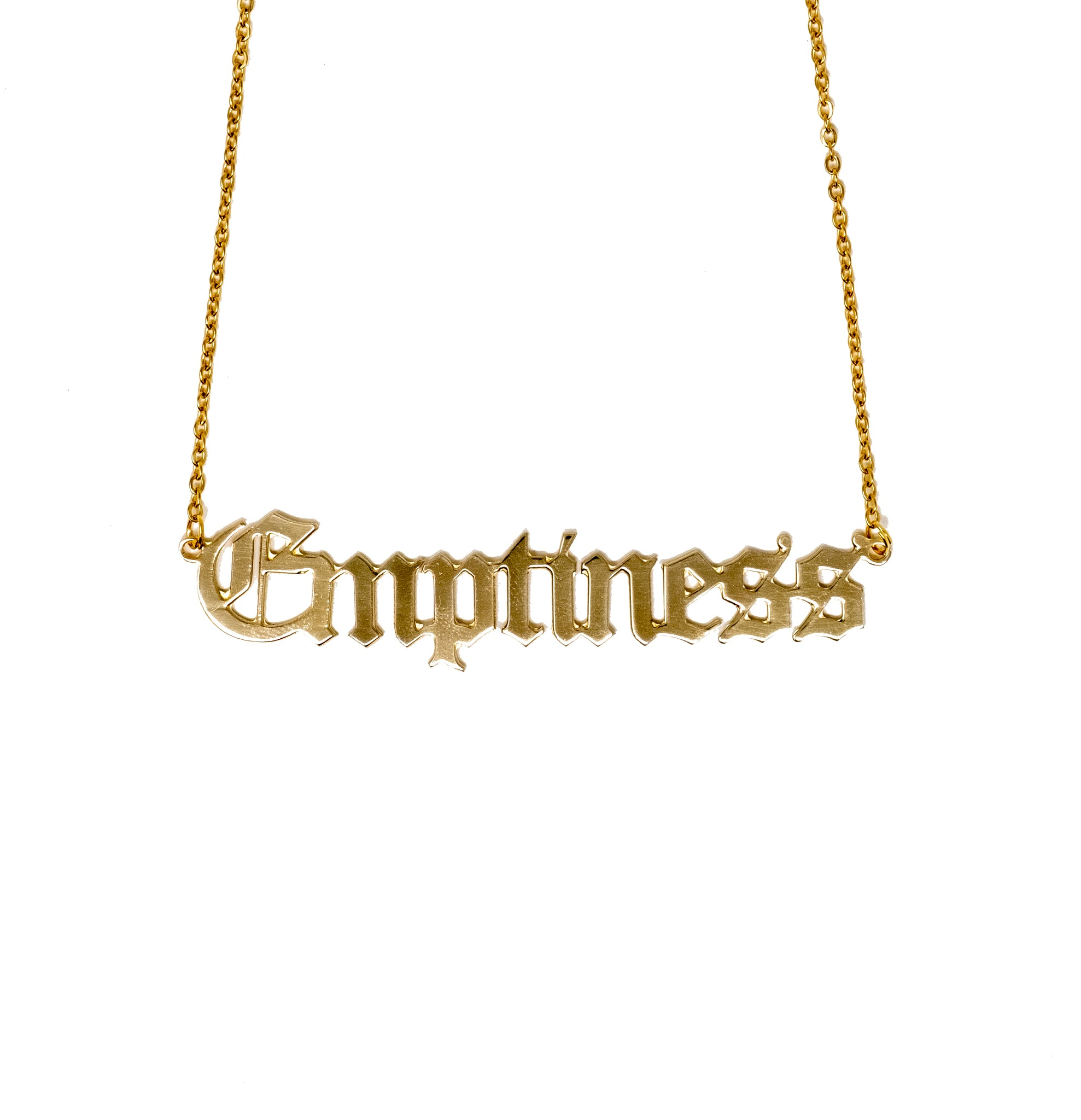 Emptiness Nameplate Necklace