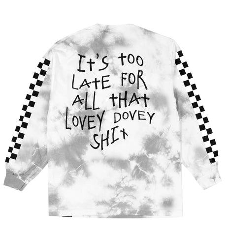 Too Late Tie Dye L/S Tee Grey