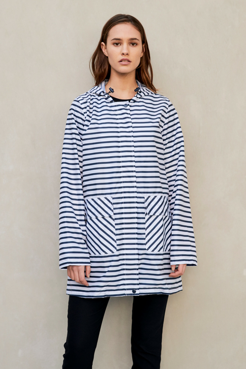 PAQME Zig Stripe Anyday Raincoat-PAQME-Weekends