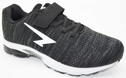SFIDA Black Transfuse Kids Sports Shoes with Velcro | blitzsports.com.au