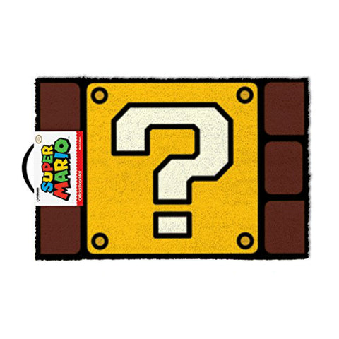 Super Mario Question Block Door Mat