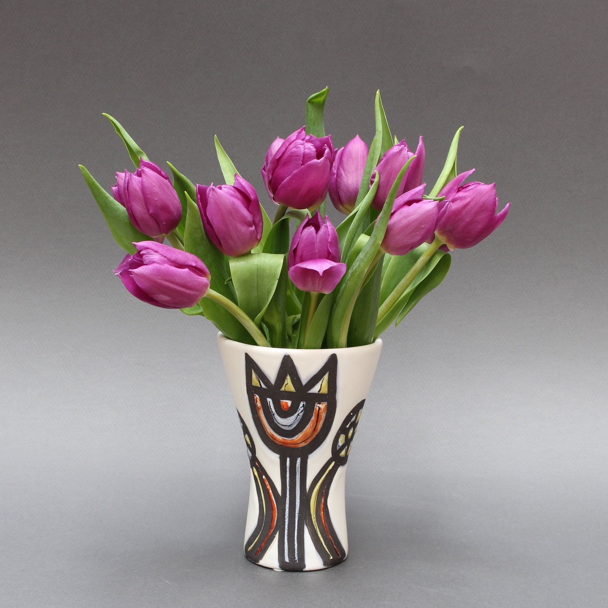Vase with Tulips by Roger Capron (1950s)