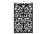 Lace black screen perforated lasercut aluminum divider