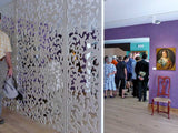 Merletto screen burano museum room divider based on traditionals drawings of Venetian Lace