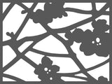 Quince texture perforated lasercut screen