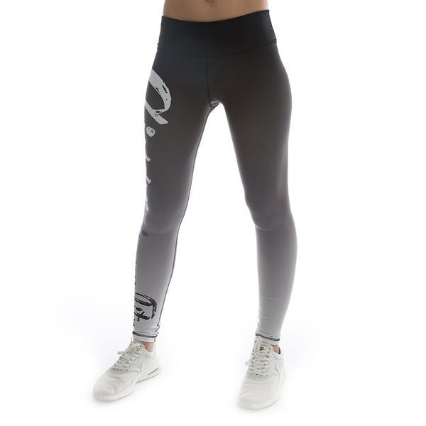 "Women's CIRFIT ""My Fitness""  Leggings - Gradient Gray"