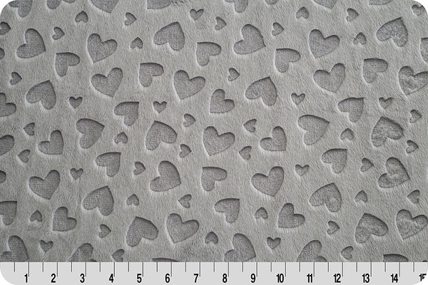 Shannon Cuddle - Embossed Heart - Silver