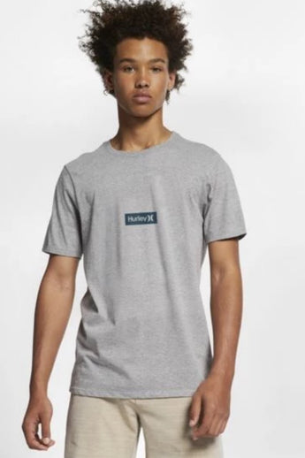 HURLEY Premium One & Only Small Box Tee - Grey Heather