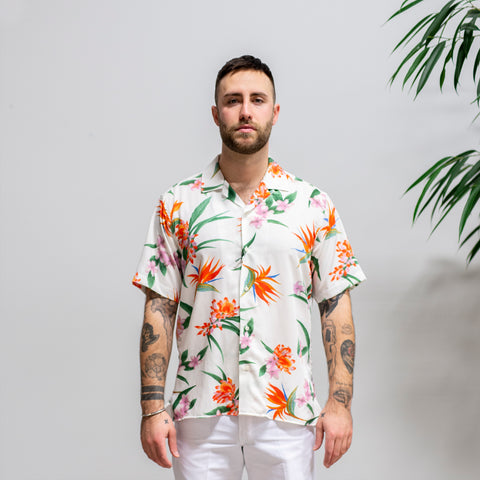 Gitman Vintage Aloha Camp Shirt White