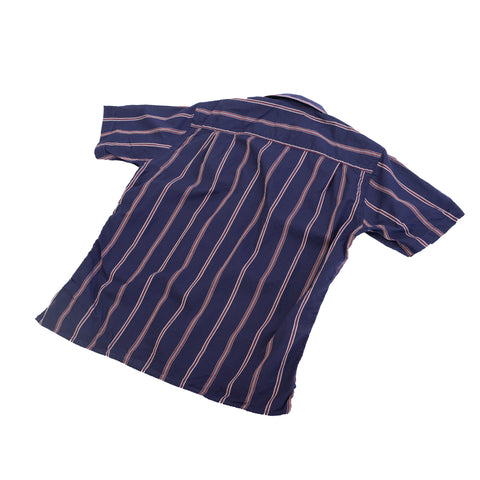 Gitman Vintage Navy Stripe Camp Shirt