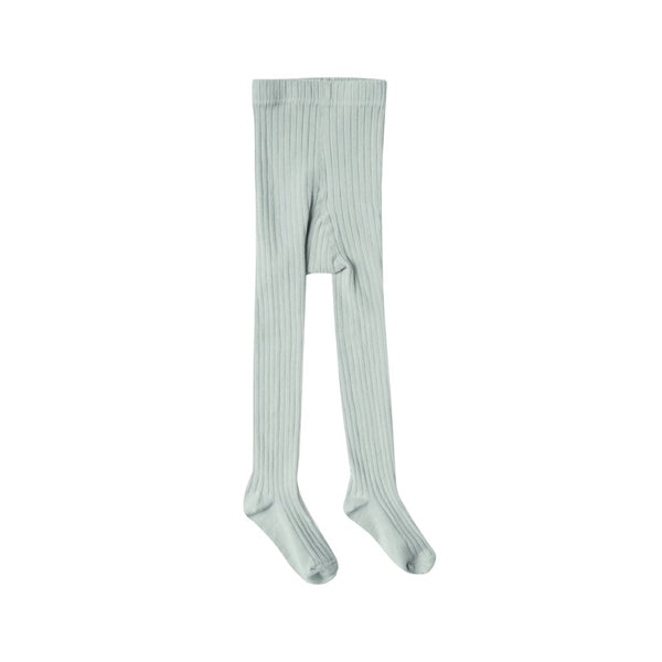 Seafoam Solid Ribbed Tights