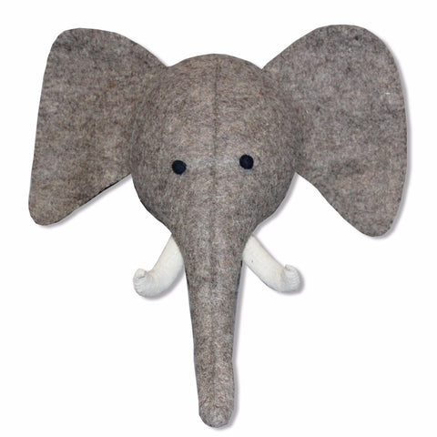 Evie Elephant Felt Head