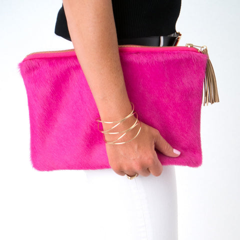 Parker and Hyde: Molly Clutch-Hot Pink