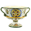 MAJOLICA MEDICI: Large Footed Round Bowl with two handles