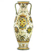 MAJOLICA MEDICI: Shaped Tall Vase with two handles and DeMedici Crest