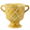 DOLFI CRISS CROSS: Footed Vase with two Handles HONEY